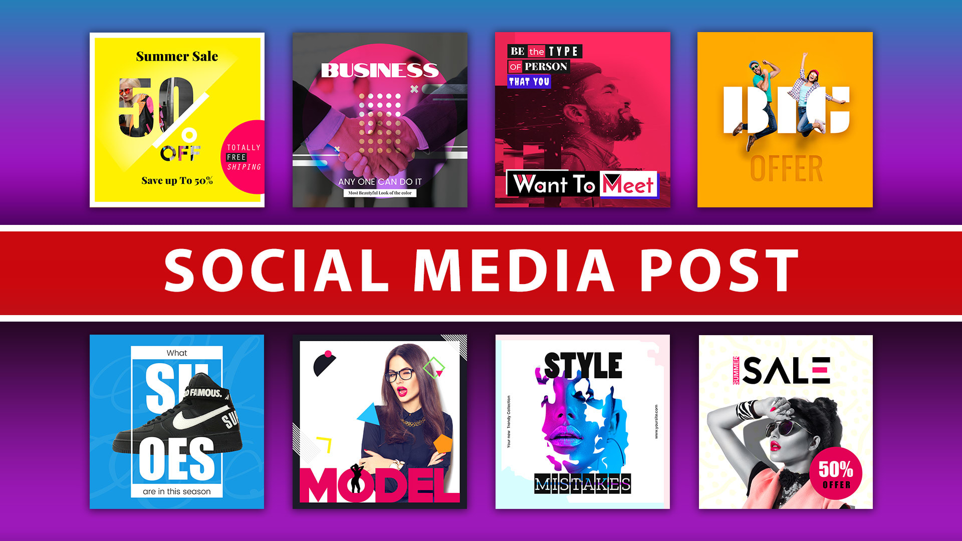 design social media posts graphics for facebook,  instagram