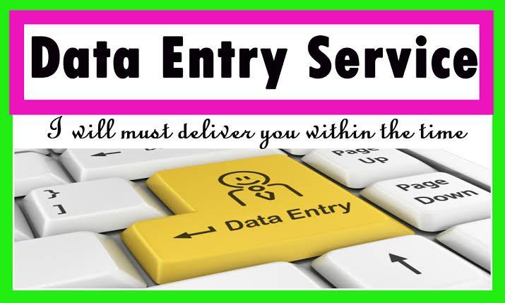 Data Entry at its best. Data entry in an effective price