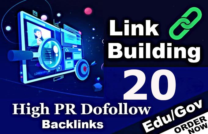 I will create powerful 20+ EDU-GOV Safe High QualitY Backlinks Authority Domain