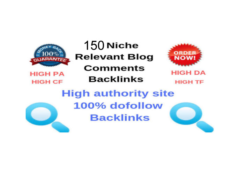 150 Niche Relevant Blog comments Backlinks