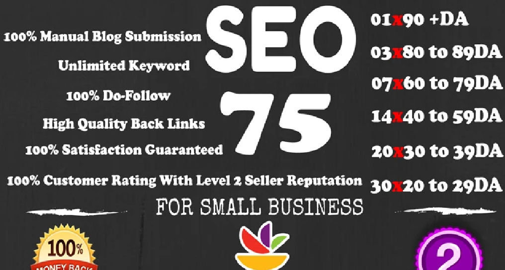 I will 75 unique dofollow backlinks da 20 to 90 plus