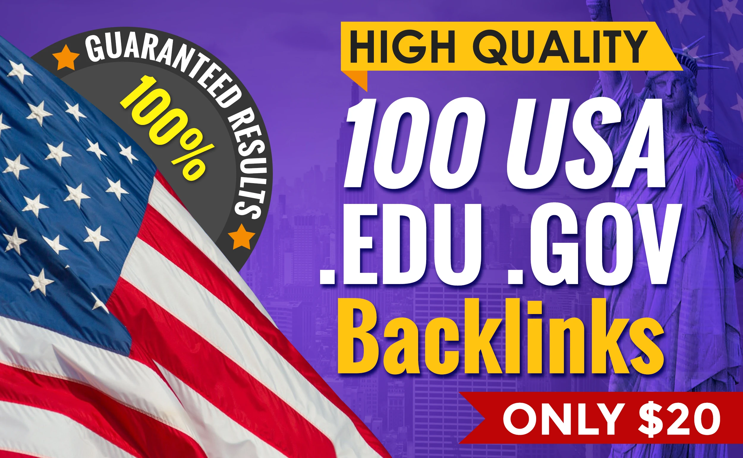 I will do organic 100 USA seo links permanent backlinks, link building