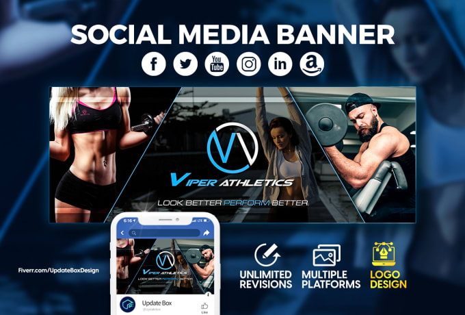 I will Design Social Media Banner, Facebook Cover & Website Banner.