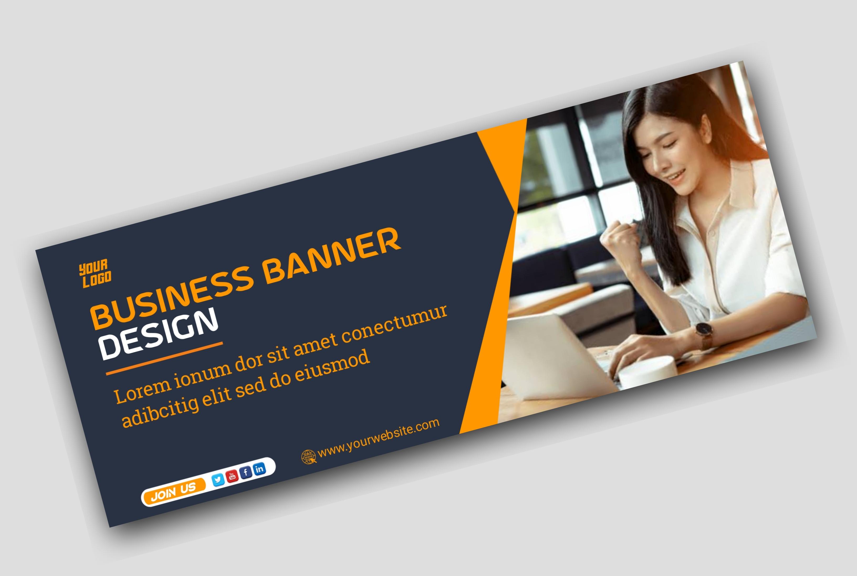 I will design social media banner, website banner.
