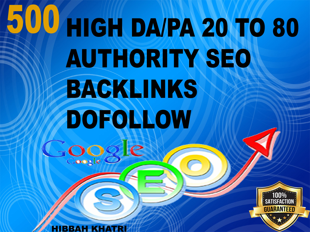 google SEO with manual high authority backlinks and trust links