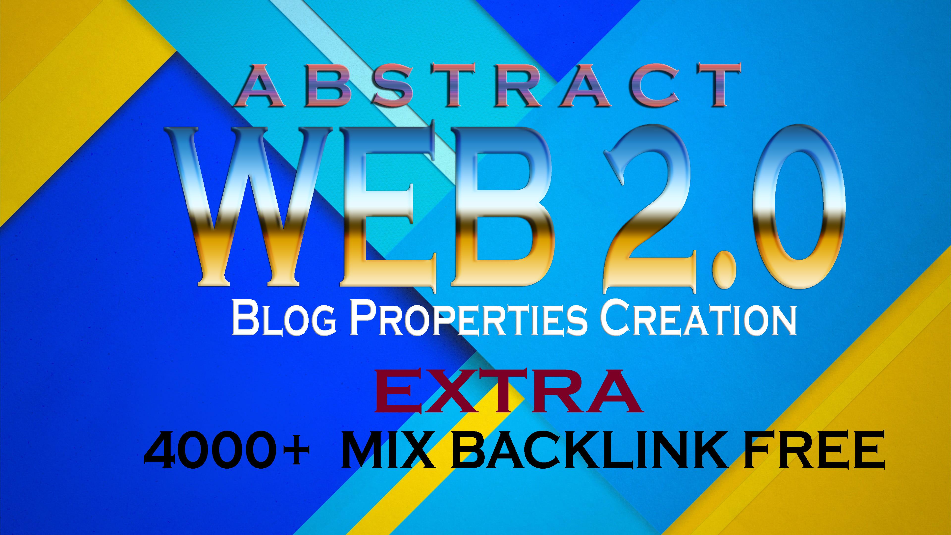 i will provide you High DA Manually created 5 web 2.0 blog with extra 4000+ tire 2 backlink