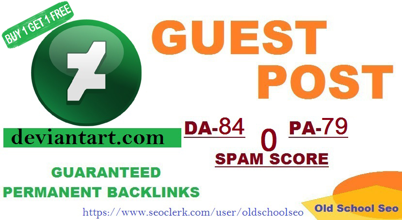 Publish A Guest Blog Post On deviantart. com DA-84 With Safe Guaranteed permanent backlinks