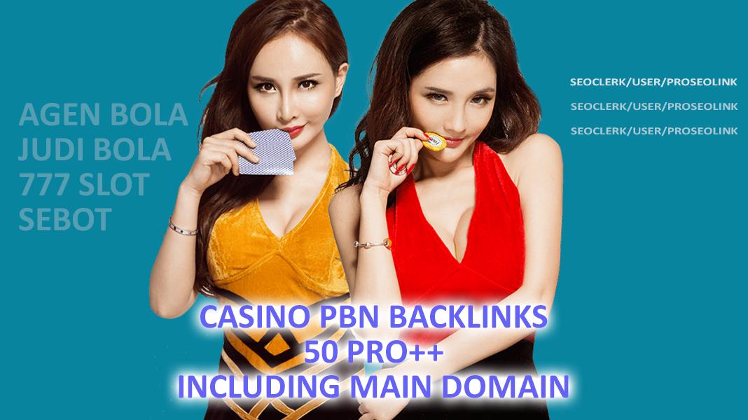 Do 50 Poker/Casino/gambling PBN Homepage Backlinks from niche relevant blog-post