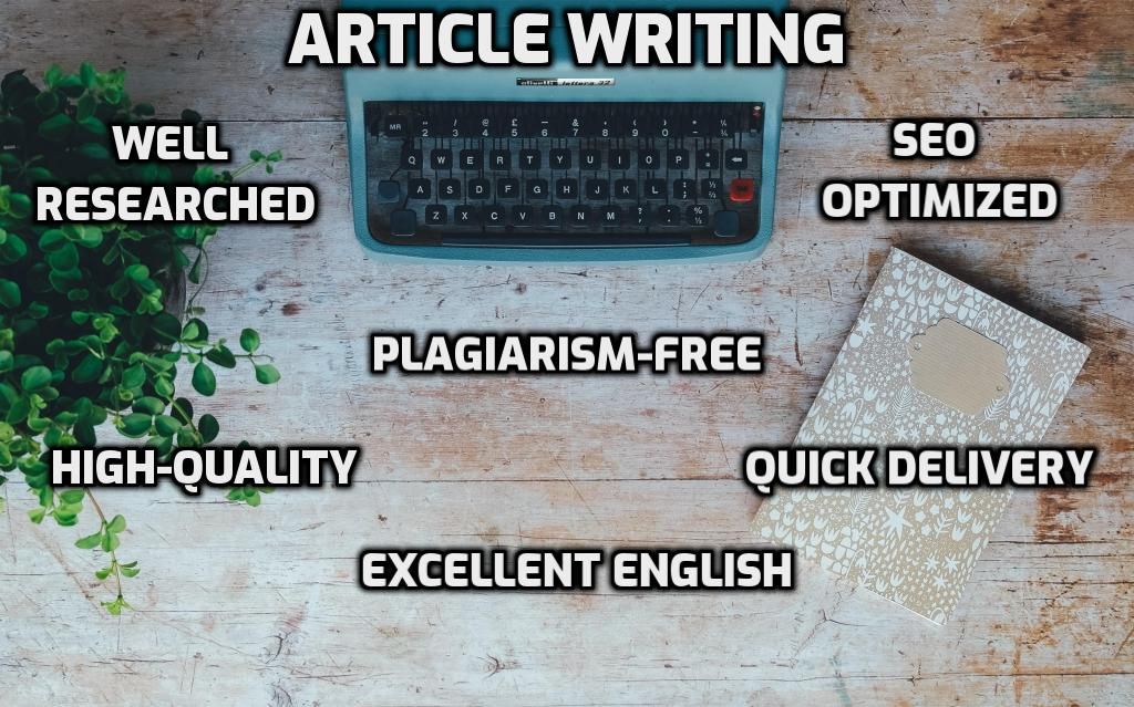 Well Researched SEO-Optimized 1500-word or 3 x 500 Words Article s