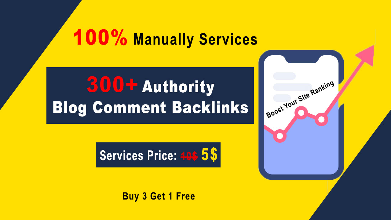 Manually 300 SEO Backlinks for High DA PA Dofollow blog comments