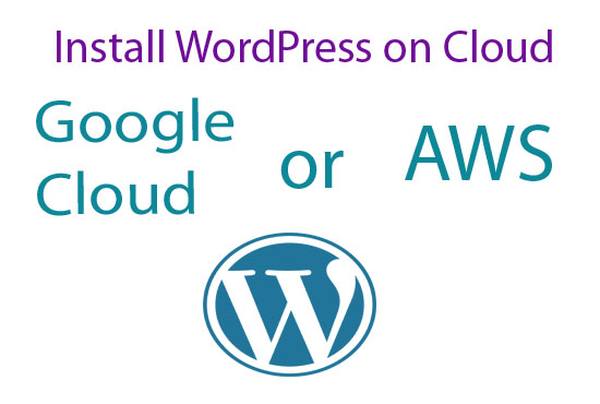 I will install WordPress on Google Cloud or AWS and Setup Cloudfare and your Domain