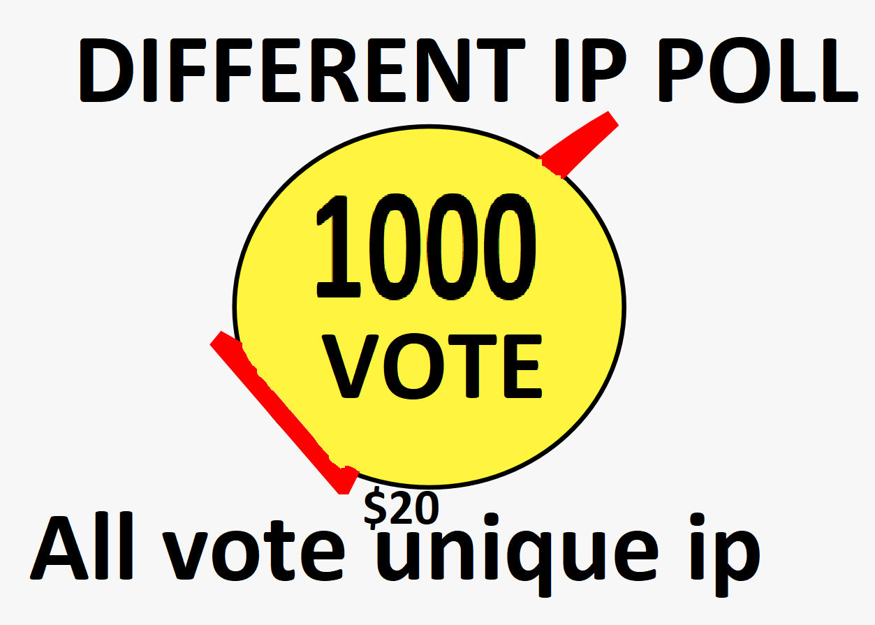 Happy brought 1000 Different Ip Votes From Unique Ip Address