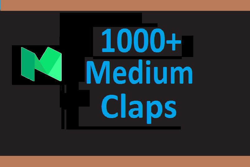 1000+ Medium claps are from worldwide accounts