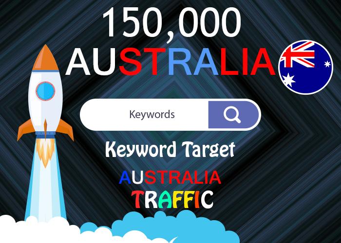 send 150,000 keyword target Australia real traffic