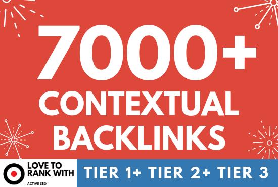 High DA 7000 Contextual Backlinks,  Tier SEO Campaign