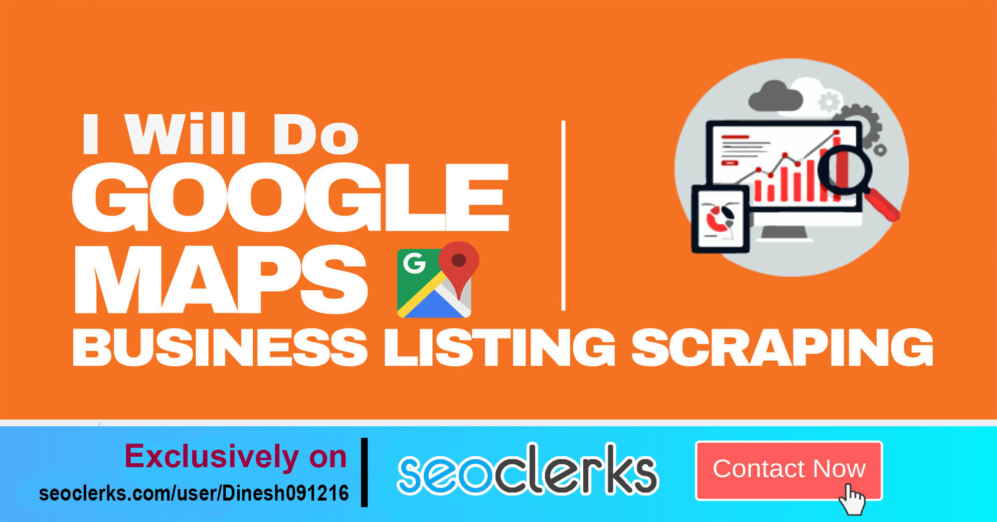 I will Do Data scraping and lead generation Of Business From Google Map