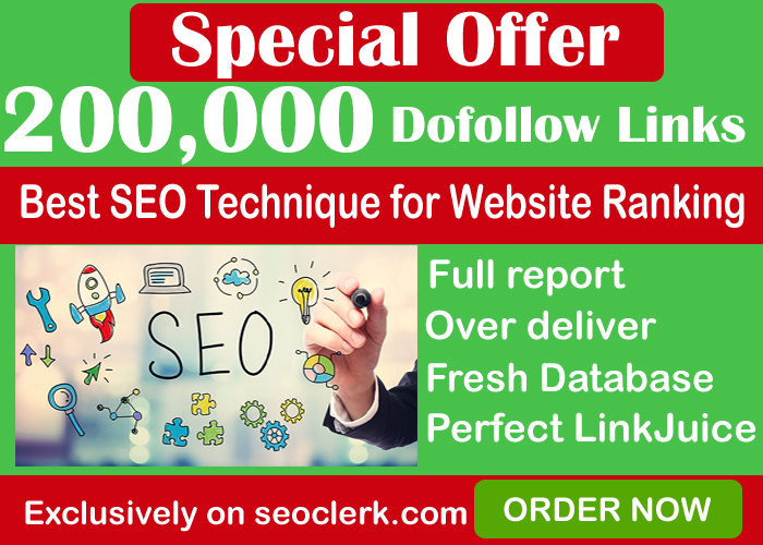 Provide 2, 00,000 Backlinks Best for Your website,  YouTube and Embeds Video