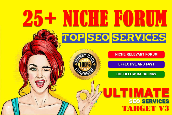 High Quality 25 Niche Relevant Forum Posting Backlinks