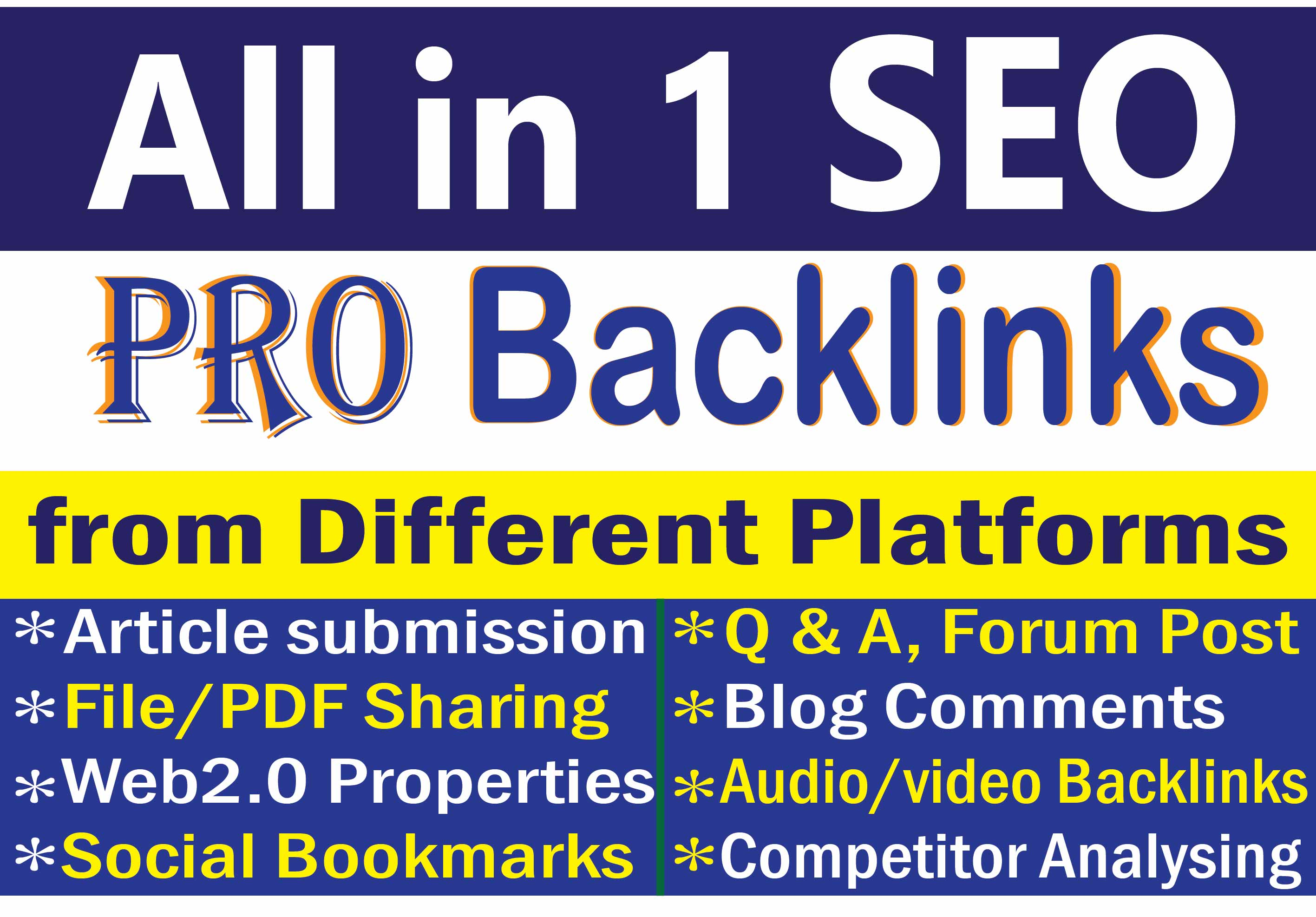 Get Quality 80 Mix SEO Manual Backlinks to get google ranking and best improvement