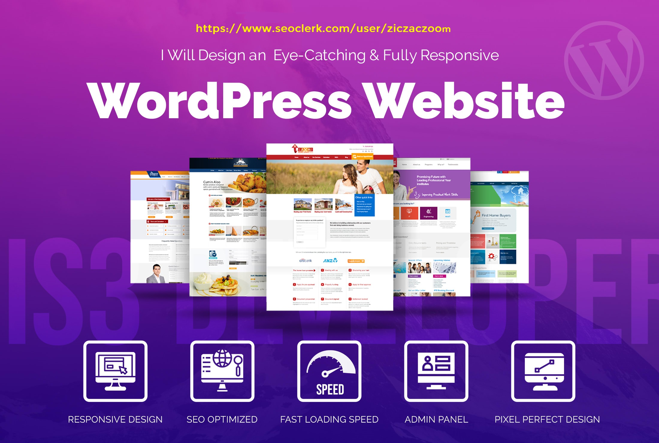 I will design and develop your wordpress website with theme & plugins