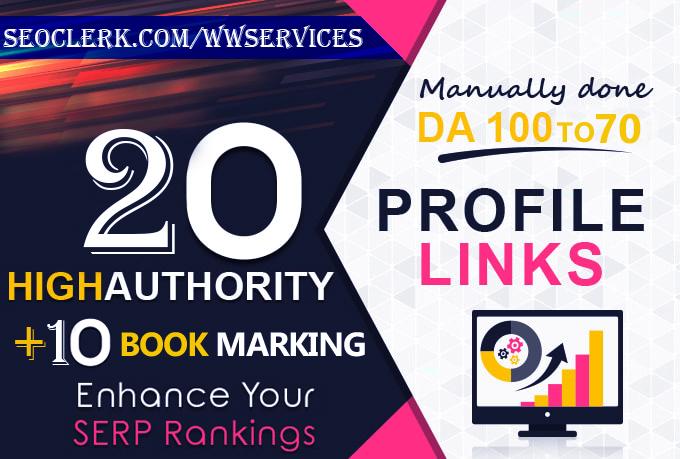I Will Provide the Most Power Full Profile+Social Bookmark Backlinks.