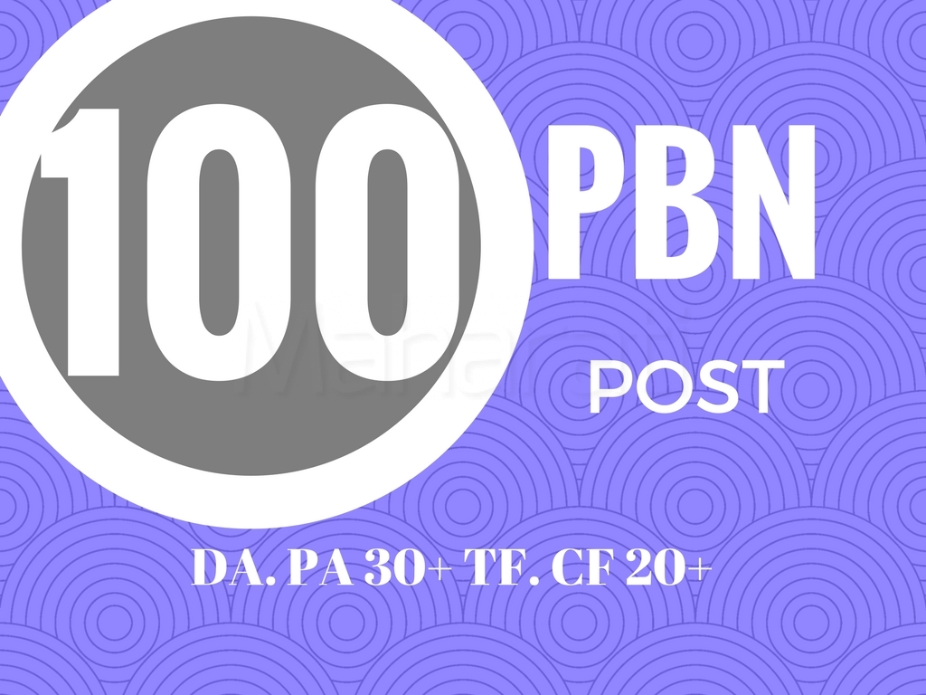 I will give you 100 permanent pbn links on high matrics