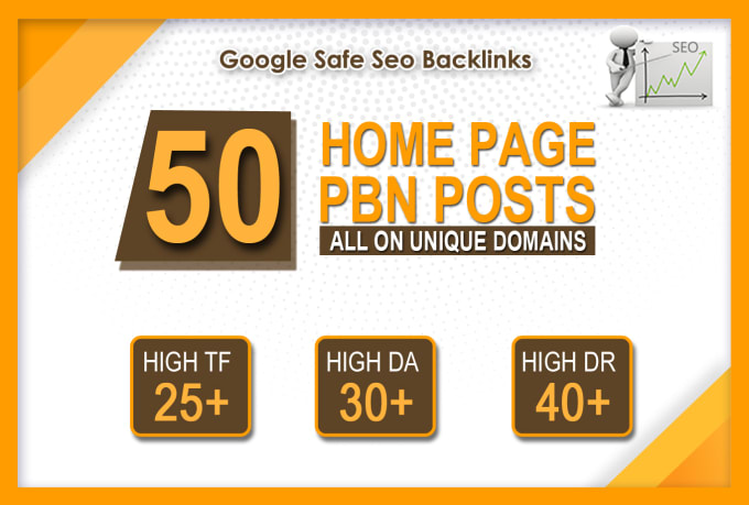 Build 50 Permanent DR 40+ Homepage PBN Dofollow Backlink for