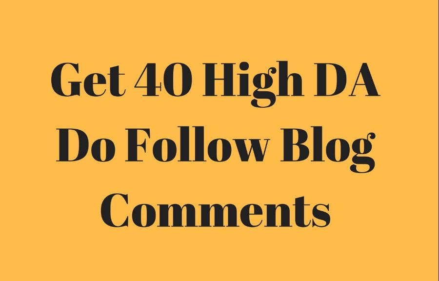 40 dofollow blog comments backlinks