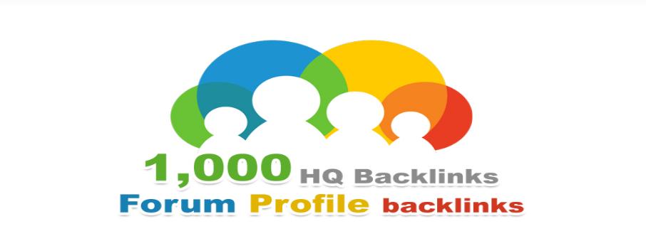 Instantly 1000 Forum Profiles Backlinks