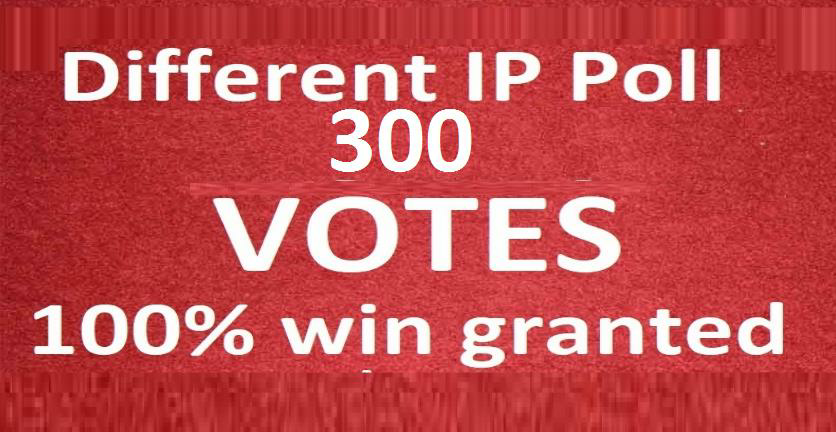 Get fast 300 different ip votes from unique ip address