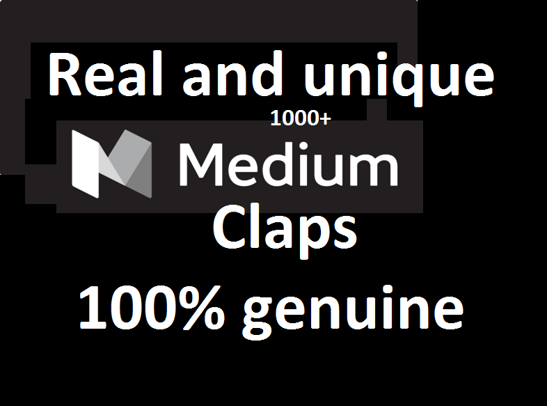 Provided You 1000+ Medium article post claps