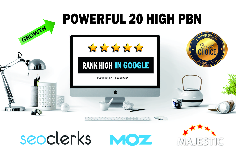25 Powerful Metric PBN With High DA PA Dofollow Permanent