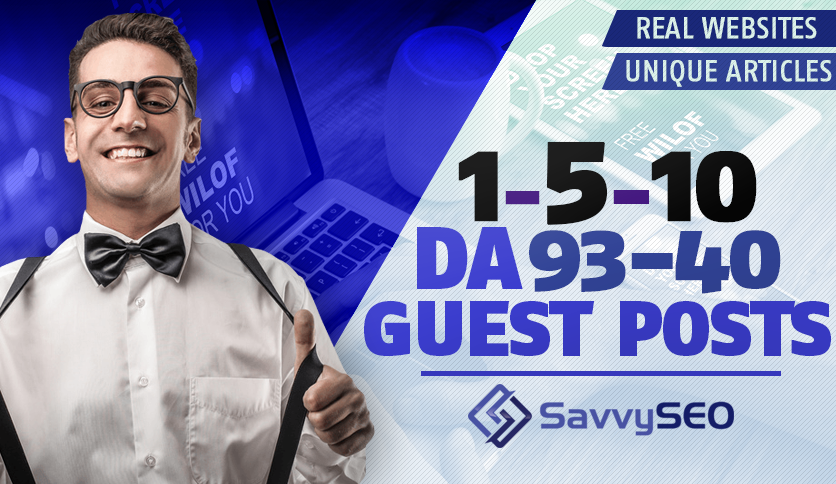 1-10 Guest Posts - DA 93-40 - Real Websites