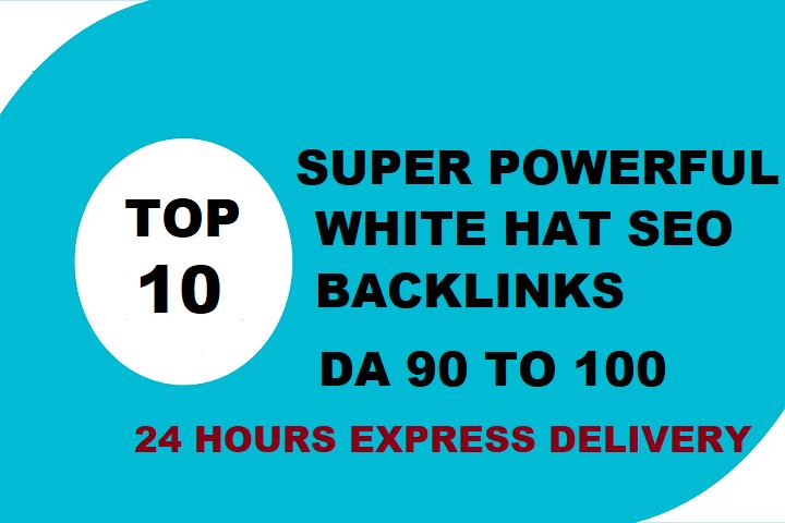 Create 10 super powerful white hat SEO Backlinks.