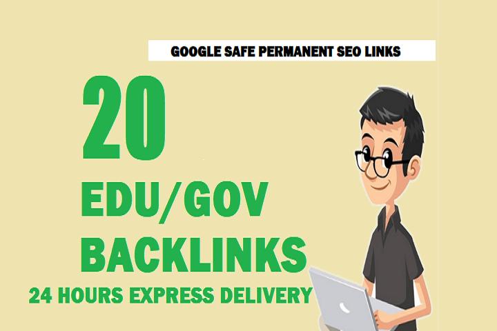 20 EDU/GOV High Authority Link building For SEO Backlinks.