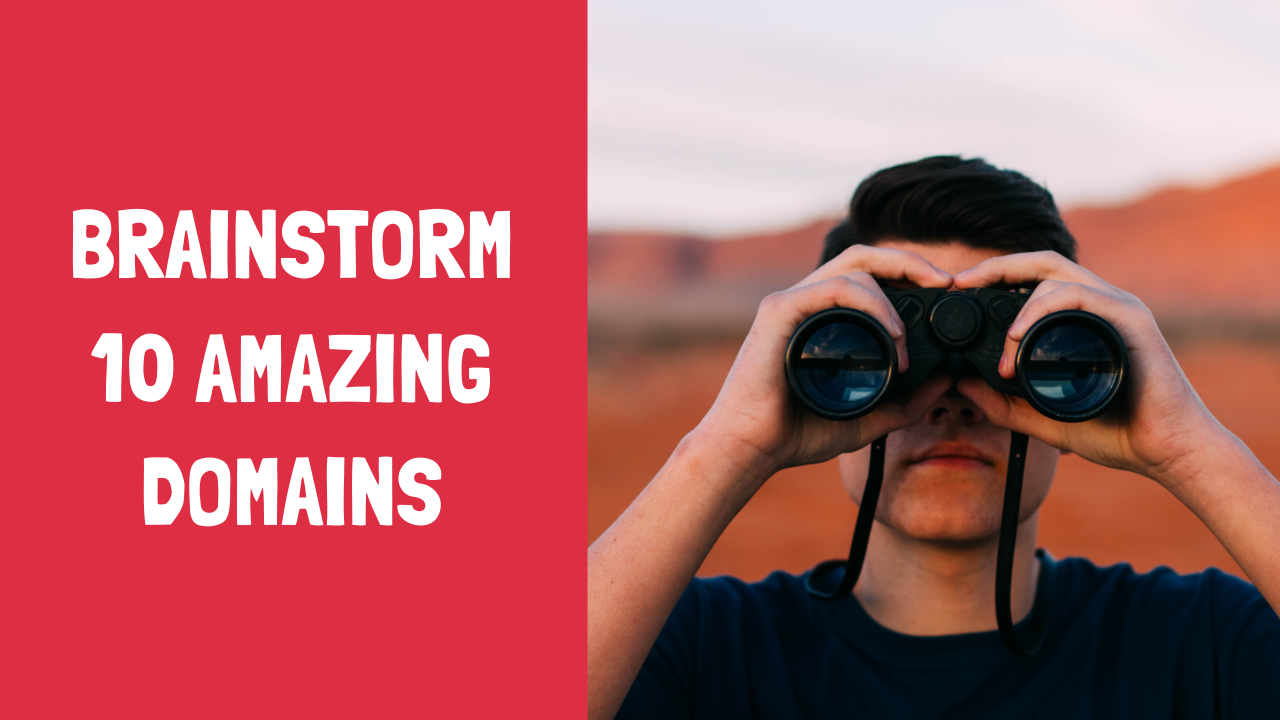 I will brainstorm 10 amazing domain names or business names