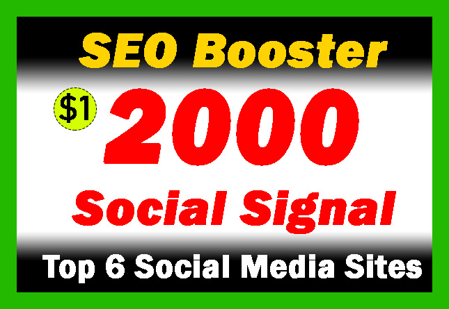 SEO Booster 2000 Social Signals for website and youtube from Top PR sites