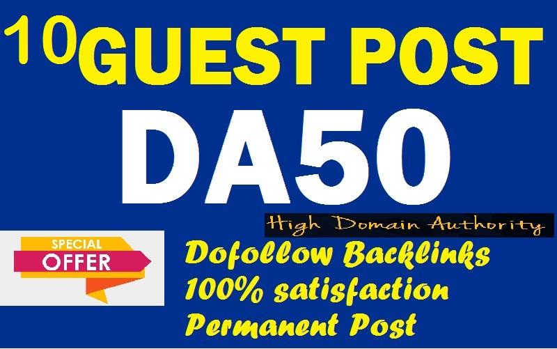 Provide you 10 DA 50+ PBN Backlinks
