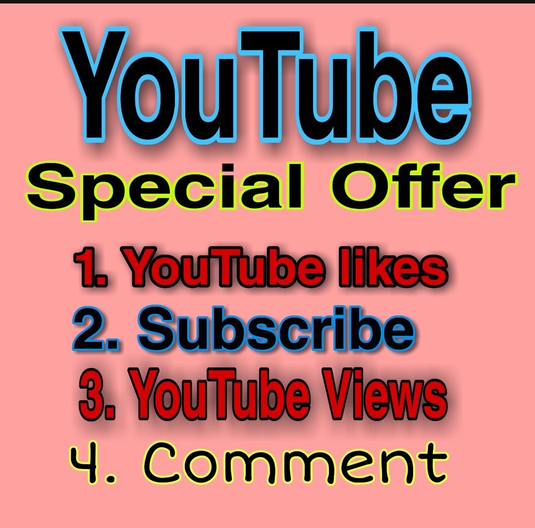 YouTube Video Promotion All Package And Social Media Follow within 24-48 hours Delivery