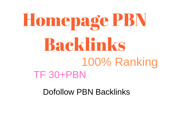 I will provide you 5 pbn backlinks from TF CF 30 plus $10