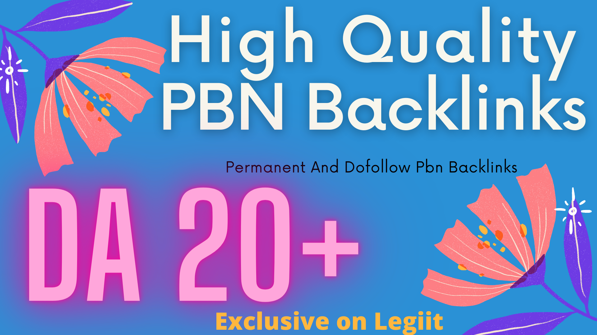 I will give 50 permanent homepage pbn backlinks from da 20 plus