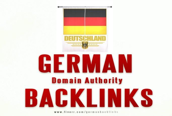 33 DA Domain authority dofollow german backlinks