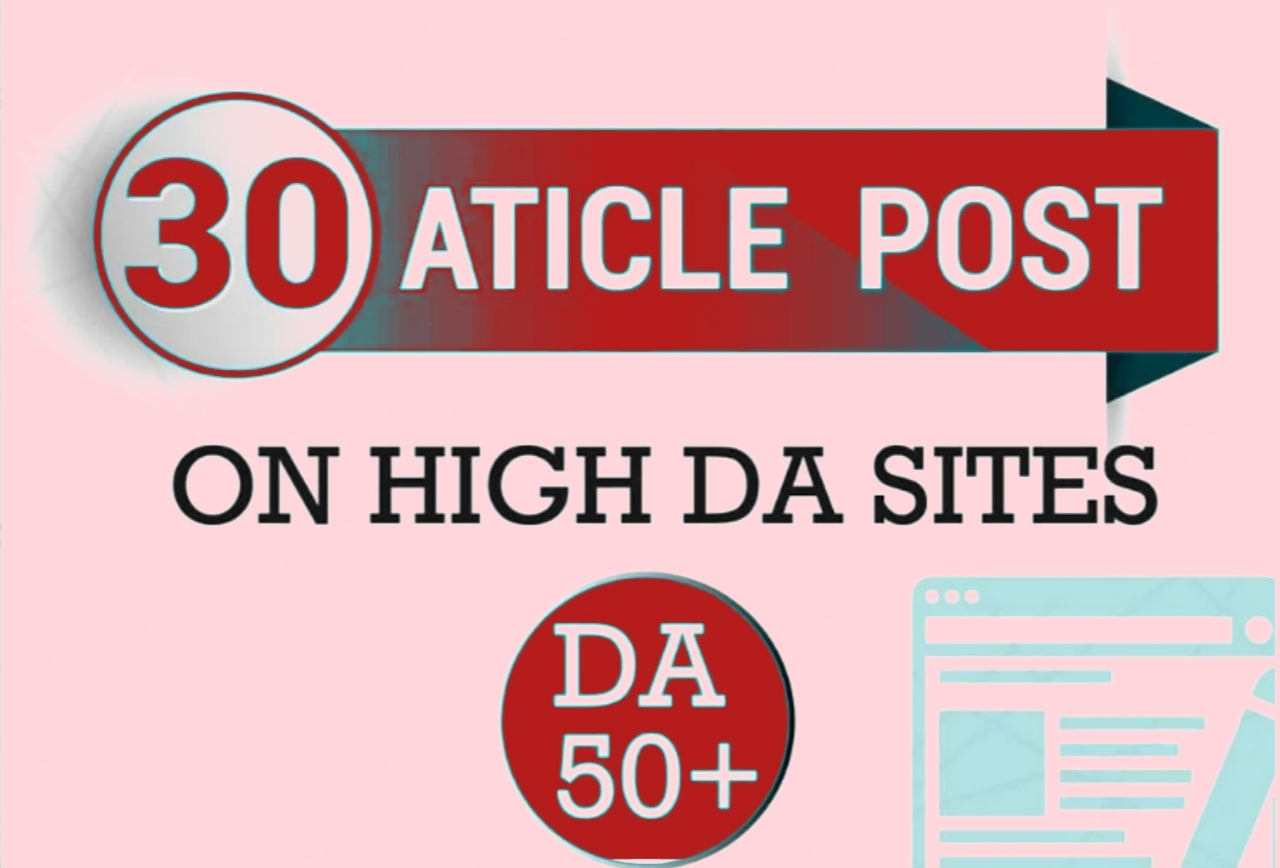 I will make 30 article submission in SEO backlinks.