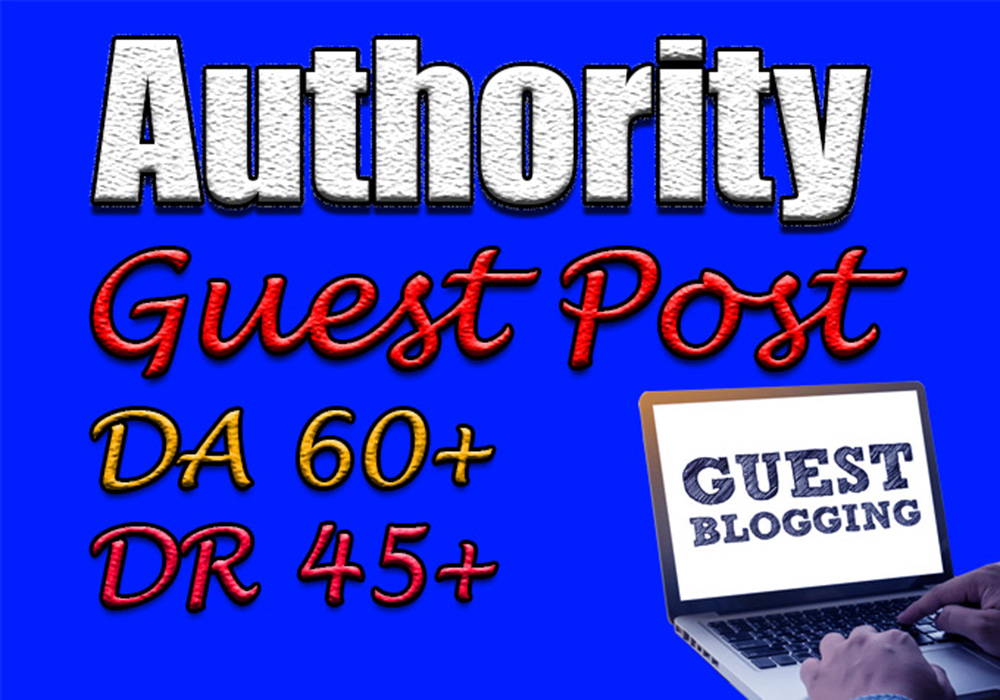 Submit 5 authority guest posts on trusted websites with permanenet backlink boost google page rank