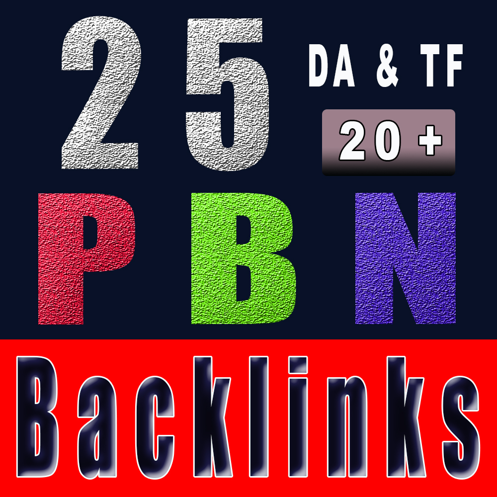 25 PBN backlinks 20+ DA PA to boost your website Ranking