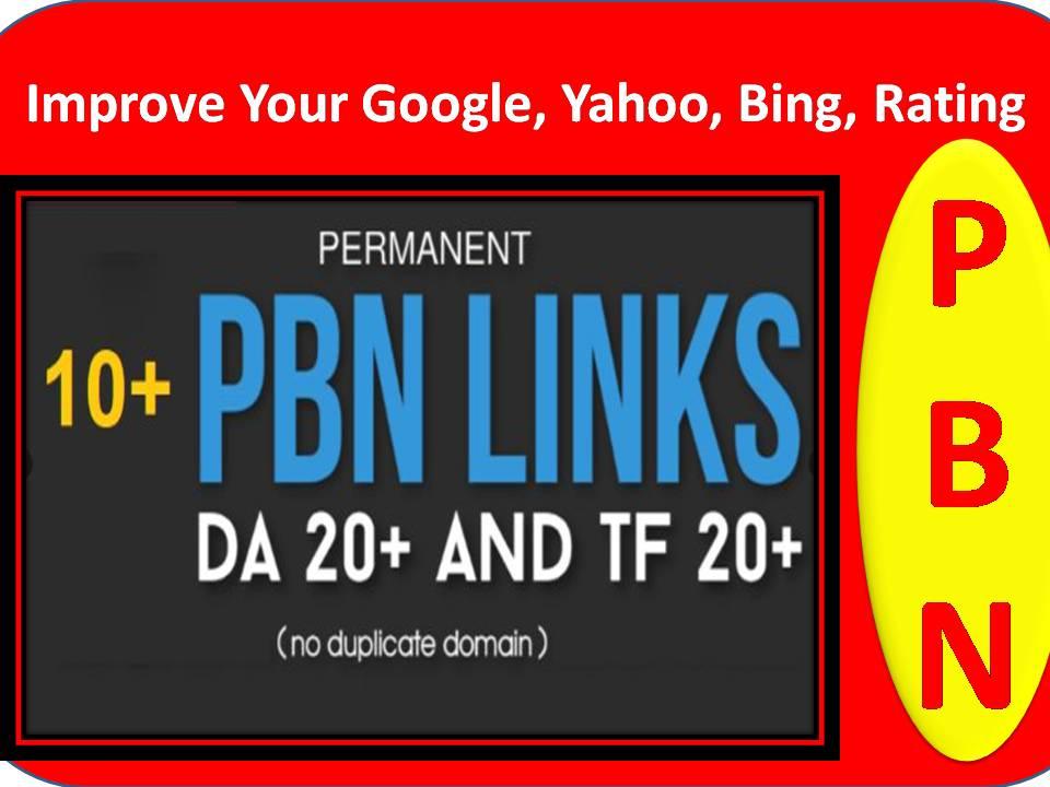 Manual 10+ PBN Links - DA 20+ and TF 20+