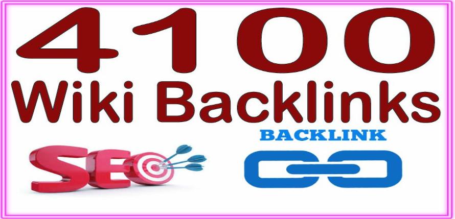 Provide 4100 Wiki Backlinks from PR6 to PR10,  High DA Websites