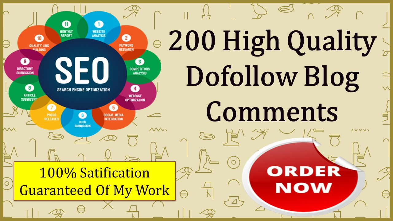 Provide High Authority SEO Blog Comments dofollow backlinks