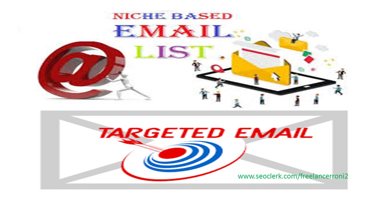 Find Targeted Niche 500 Active Email List collect of your choice