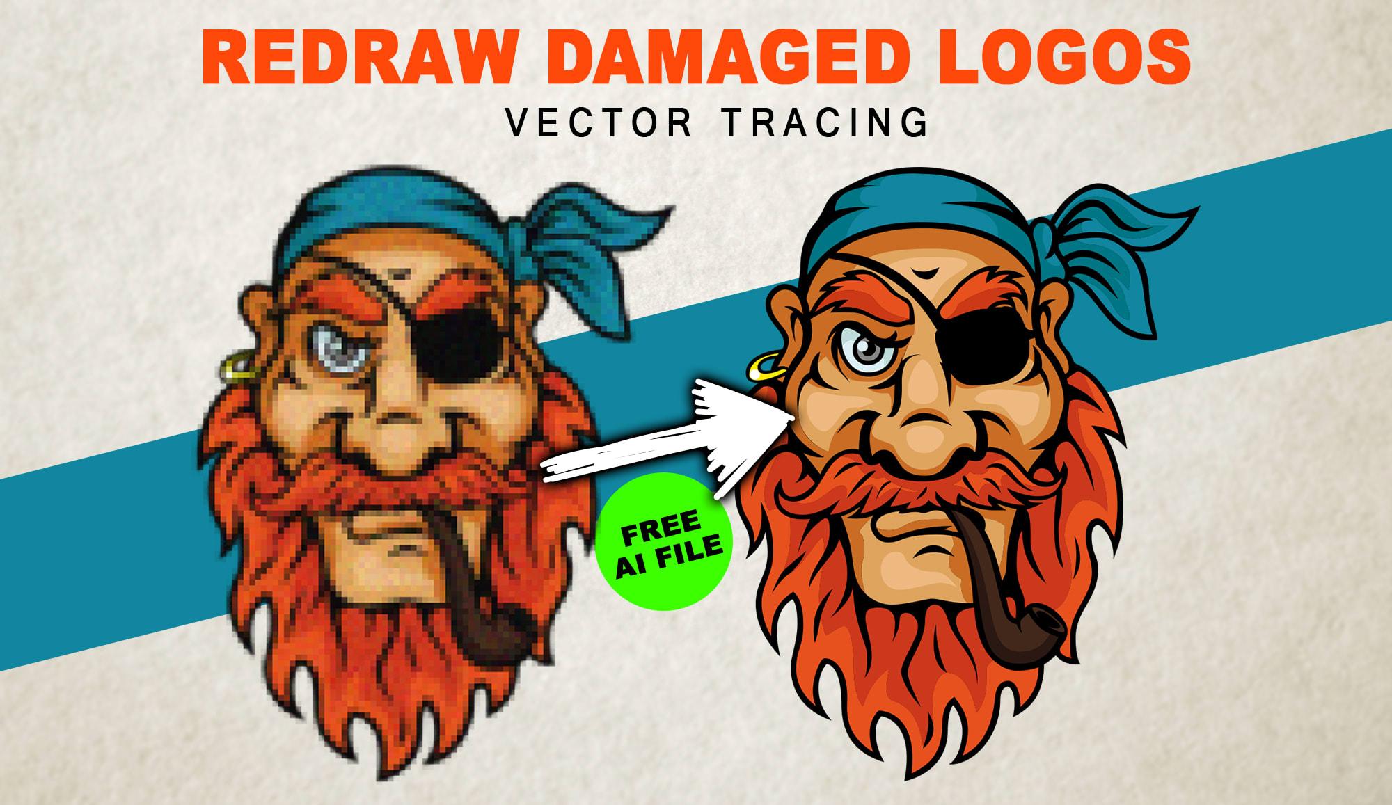 I will do vectorize logo design